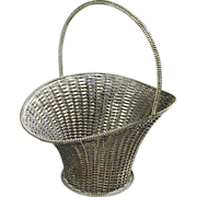 Taxco Mexican Large Sterling Silver Woven Basket VILLASANA c1960 - Red Tag Sale Item