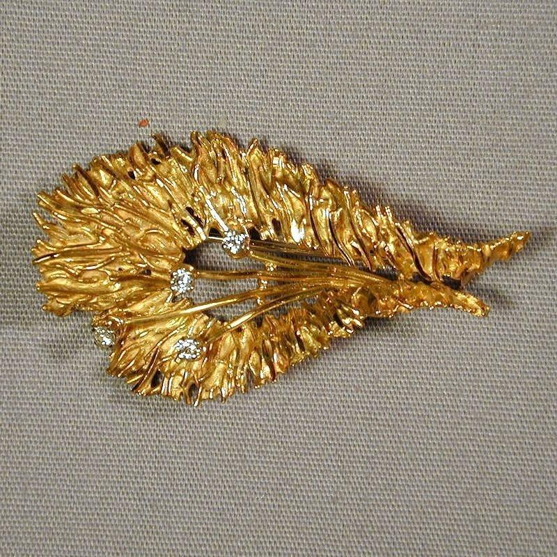 Vintage 18K Solid Gold 750 Pin Brooch Pendant Belgium