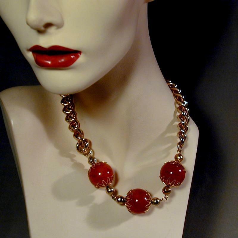Oh What Fun Vintage BAKELITE Parure Necklace Bracelet Earrings