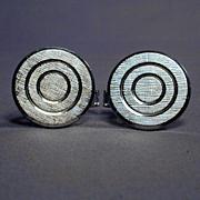 Modernist Sterling Silver TARGET Cufflinks