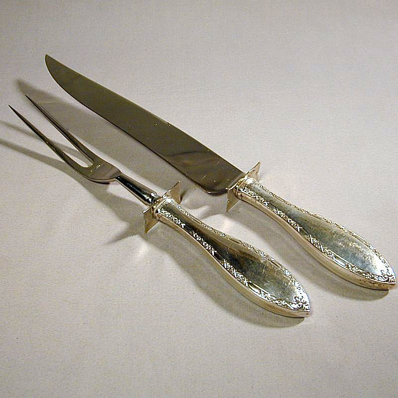 WEB Sterling Silver Serving Set Knife & Fork Table Ware