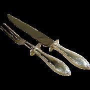 WEB Sterling Silver Serving Set Knife & Fork Table Ware