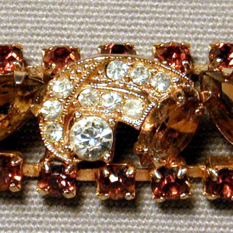 Vintage WEISS Austrian Crystal Rhinestone Bracelet