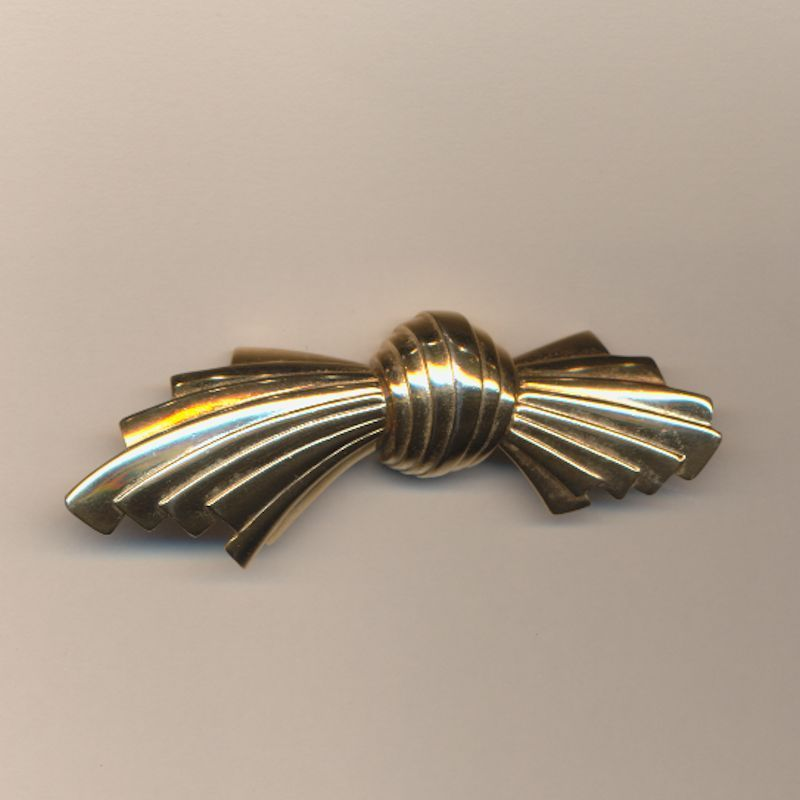GIVENCHY Paris - New York Gold-Tone Pin Brooch