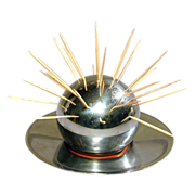Art Deco 1930s CHASE Chrome Cocktail Ball & Tray