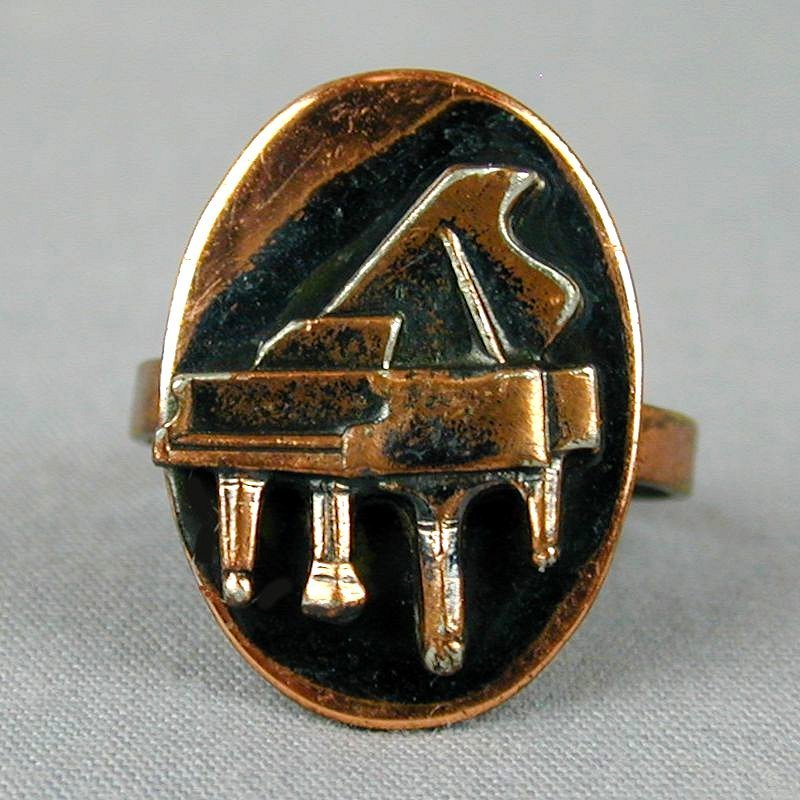1950s Vintage Copper PIANO Ring