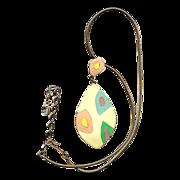 Vintage HOBE Enamel Pendant Necklace