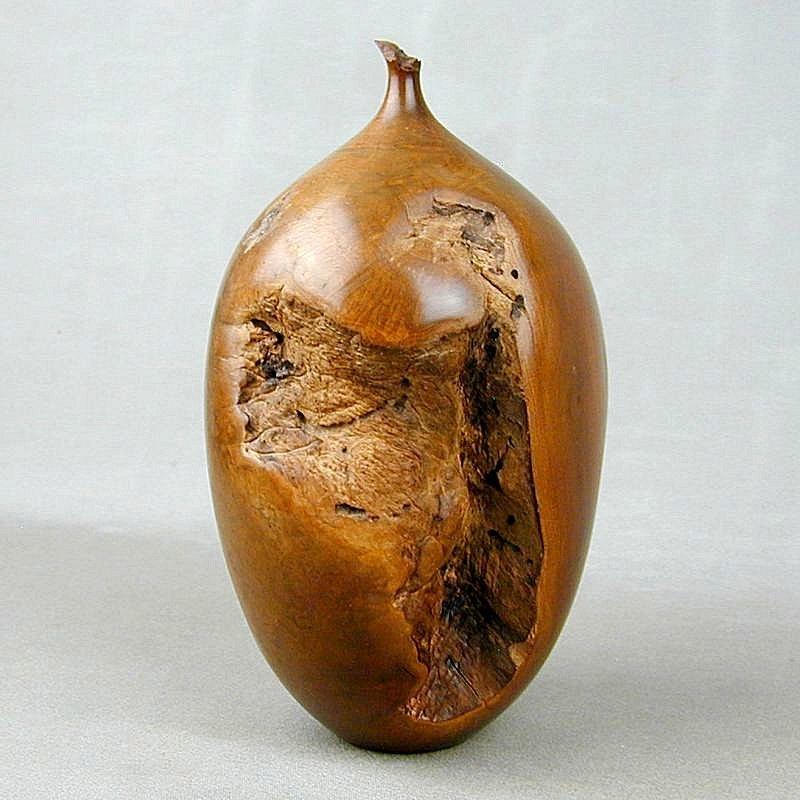 1981 Hap Sakwa Manzanita Burlwood Bud Vase Wood Sculpture