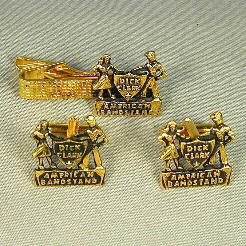 Vintage 1950s AMERICAN BANDSTAND Cufflink Set - Mint in Box