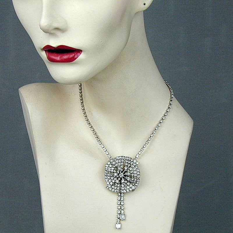 Gorgeous Vintage Rhinestone Necklace