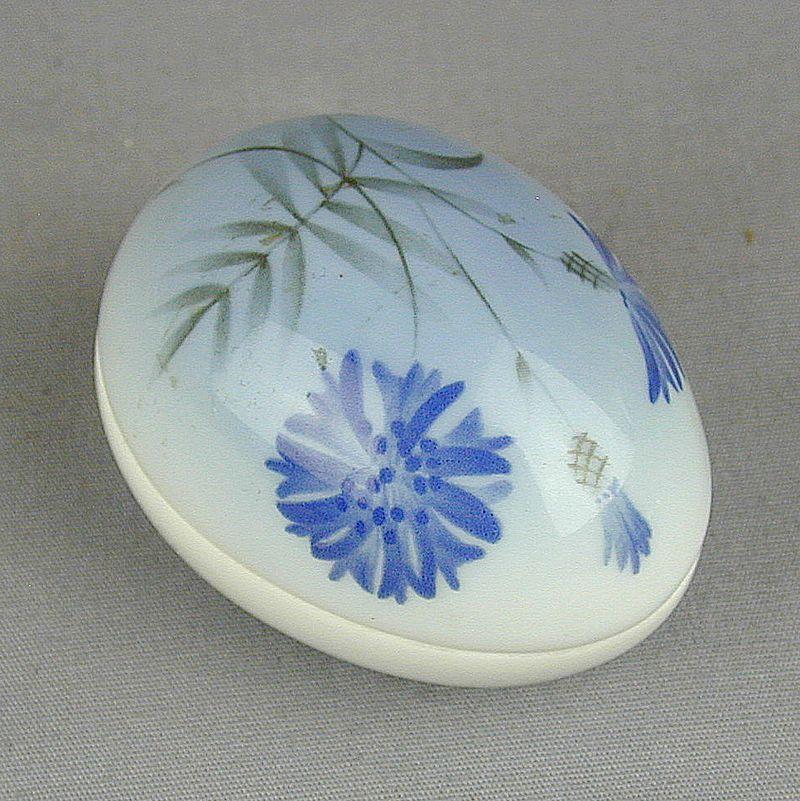 1989 Bing and Grondahl Porcelain Egg Trinket Box Ltd. Ed.