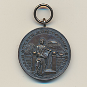 Old 1920s Sterling Silver MANUAL TRAINING Medal N.J. School