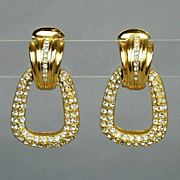 Vintage Christian Dior Rhinestone Earrings