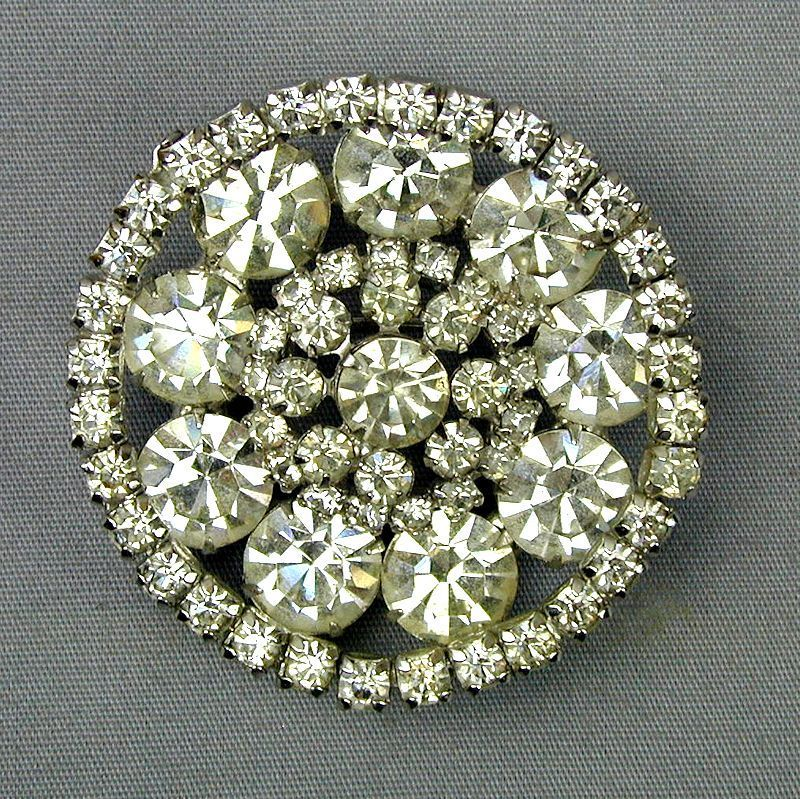 Big Brilliant KRAMER Crystal Rhinestone Pin Brooch