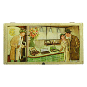 1950s Wood Cigar Box W. Germany Tobacco Store Advertising