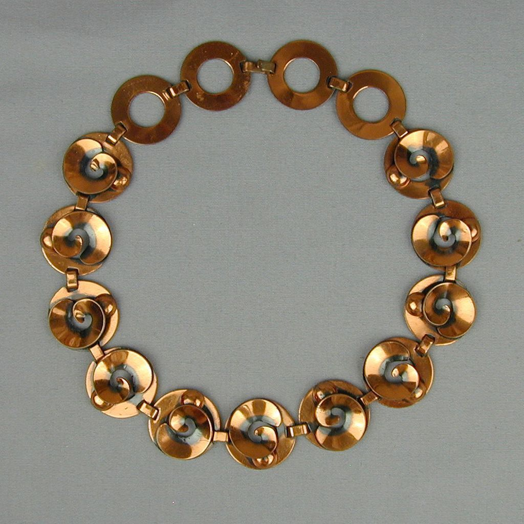 Modernist Copper Necklace Great Design for the Offbeat