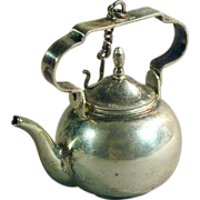 Old Dutch Continental Silver Miniature Teapot Hendrik Hooykaas
