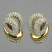 Vintage CARRE Rhinestone Earrings - Faux Diamond Fabulous