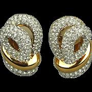 Vintage CARRE Rhinestone Earrings - Faux Diamond Fabulous