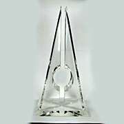 Modernist Pyramid Lucite Hivo Van Teal Sculpture - 1970s