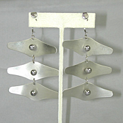 Modernist Mobile Dangling Earrings - Kinetic Wings