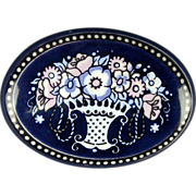 Vintage Austrian Enamel Pin by Michaela Frey - Flower Basket