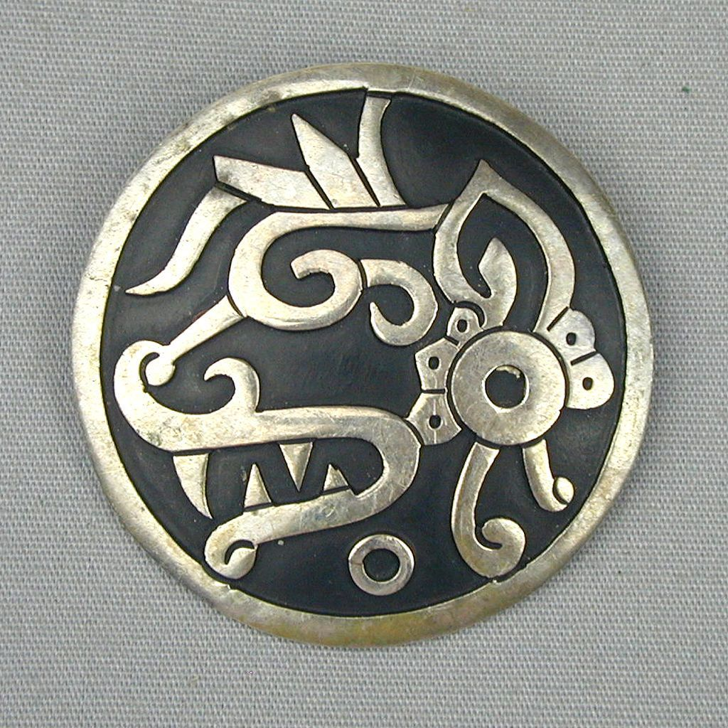 Vintage Taxco Mexico Sterling Silver Pin / Pendant