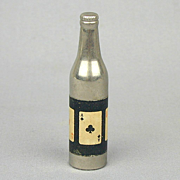 1940s KEM Aces Playing Cards Bottle Shaped Cigarette Lighter Works