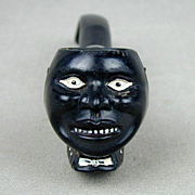 Old Black Americana DARKIE Smoking Pipe - Tobacco Figural