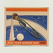 1939 New York World's Fair Bookmark on Original Card