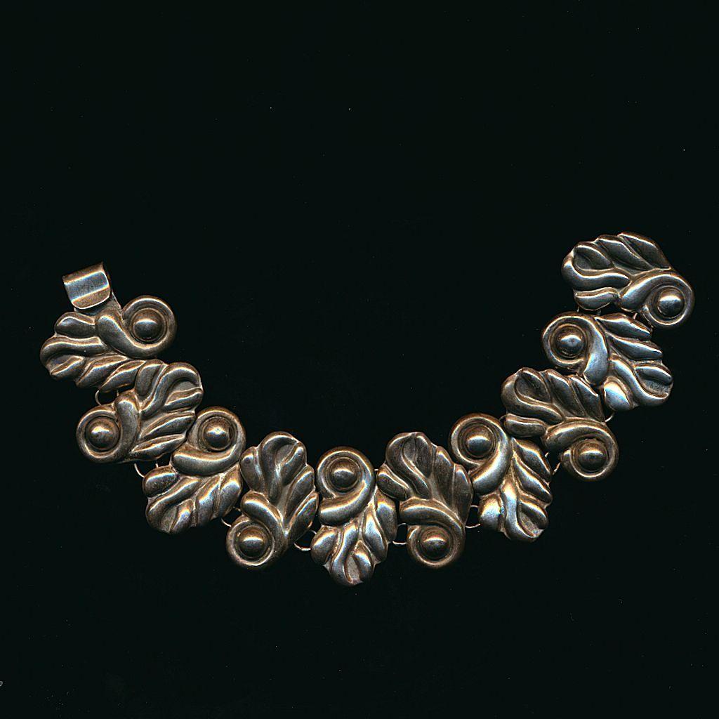 Old Handmade Mexican Sterling Silver Bracelet Signed PSC