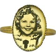 Rare Old Original 1930's SHIRLEY TEMPLE Photo Ring