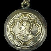 Old Miniature Rosary Locket Case w/ Rosary Germany c1920s