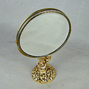 Vintage MATSON Ormolu Vanity Mirror 2-Face Swivel Roses
