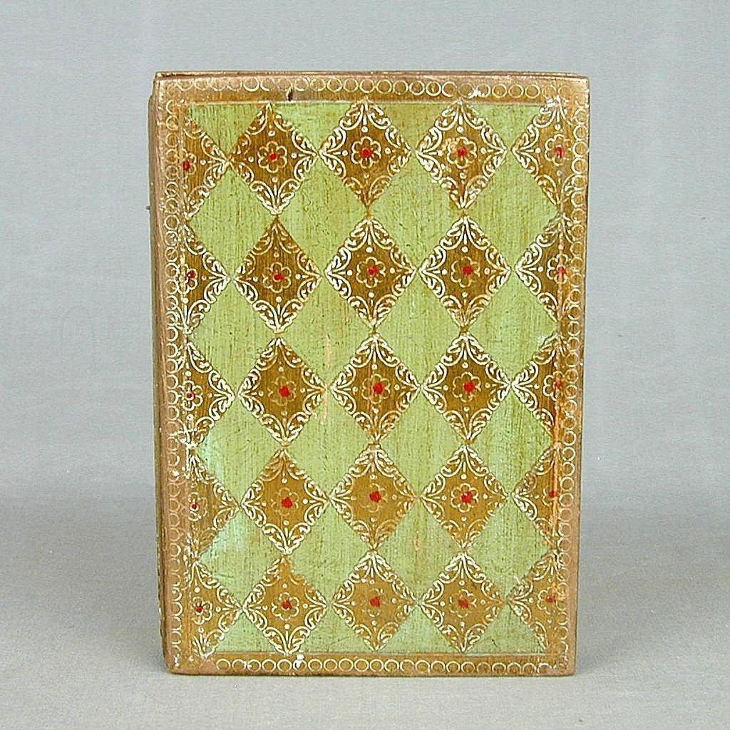 Old Florentine Gilt Wood Folding Prayer Box