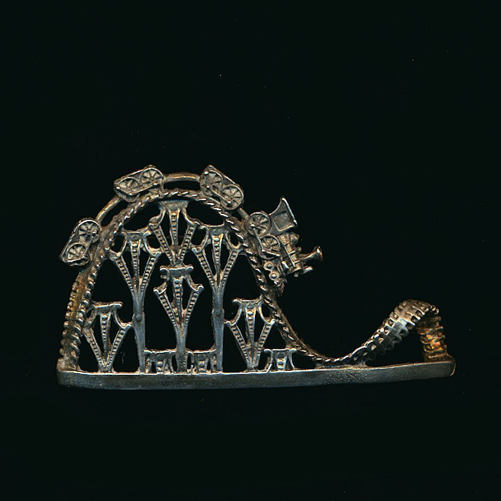 Vintage Roller Coaster Train Pin Brooch