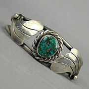 Native American Sterling Silver & Turquoise Cuff Bracelet