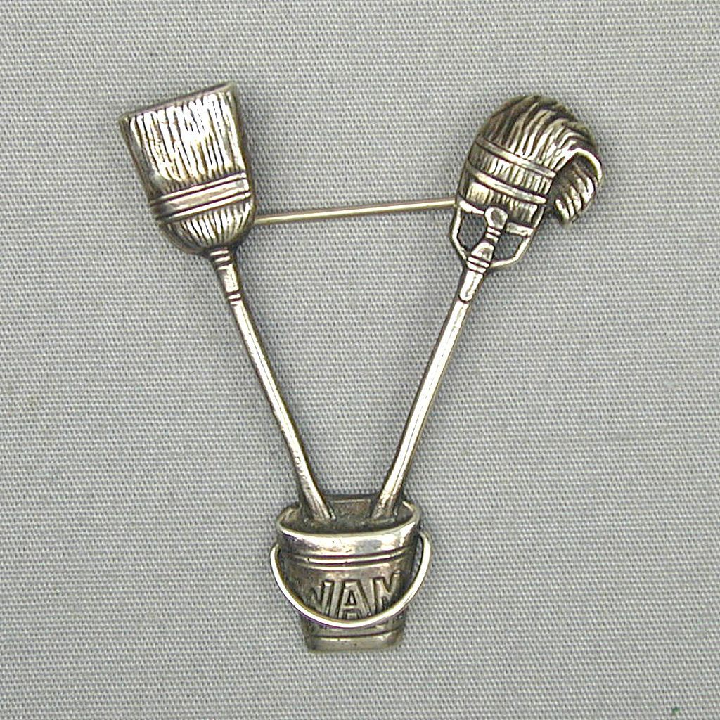 Old Black Starr & Gorham CINI Sterling Silver Pin WAM