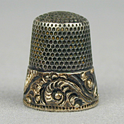 Victorian Ketcham & McDougall Sterling Silver Thimble