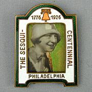 Vintage 1926 Philadelphia Sesqui-Centennial Expo Fair Enamel Frame Miniature