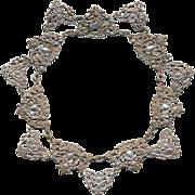 Victorian Sterling Silver Necklace Ornate Collar w/ Cherubs Art Nouveau