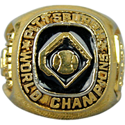 Vintage 1960 Pittsburgh Pirates Championship Ring - Rare Food Chain Promo
