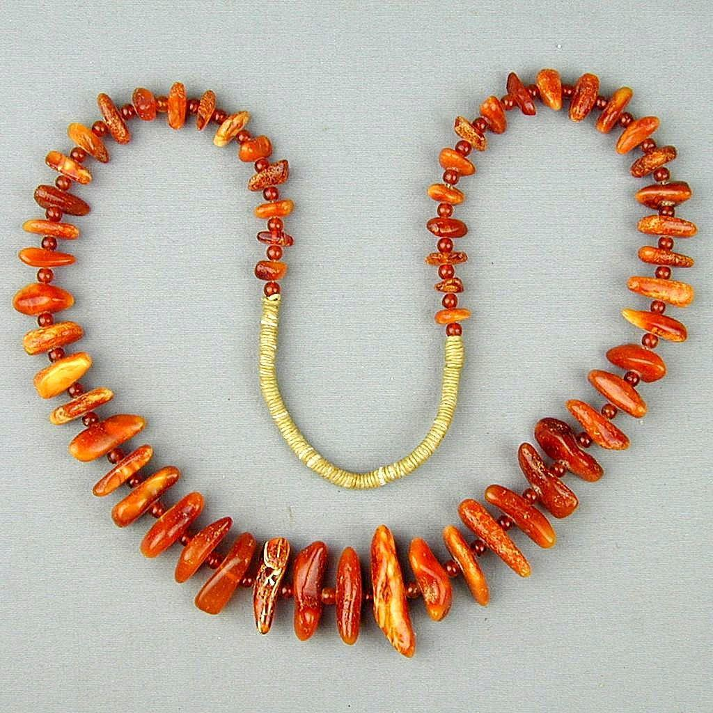 Vintage Baltic Amber Multi-Color Nugget Beads Necklace