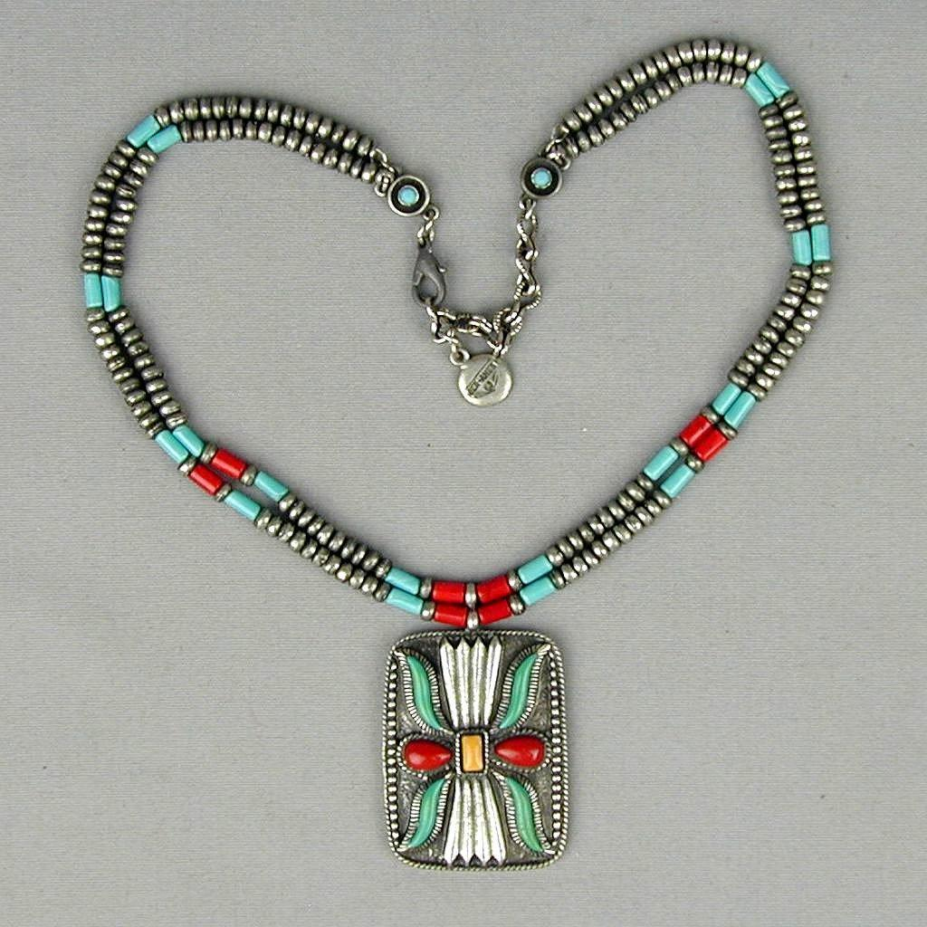 Vintage Ben-Amun Native American Style Necklace