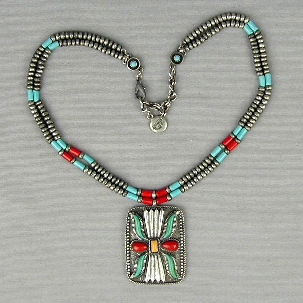 Vintage Ben-Amun Native American Style Necklace