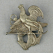 Old Victorian Advertising Pin CIE Transatlantique French Line Ship