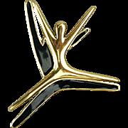 Trifari Leaping Dancer Enamel Pin Brooch - Dancing