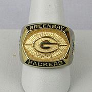 Vintage Green Bay Packers Souvenir Ring - NFL Football