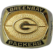 Vintage Green Bay Packers Souvenir Ring - NFL Football