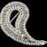 Vintage Kirk's Folly Big Crystal Rhinestone Pin Brooch